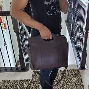 Vintage Coach Brown Leather Tote Shoulder Bag